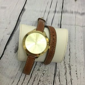 Michael Kors double leather watch